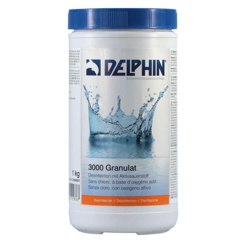 Delphin 3000 Granulat 1 kg schnelllösliches Aktivsauerstoff Schwimmbadpflege