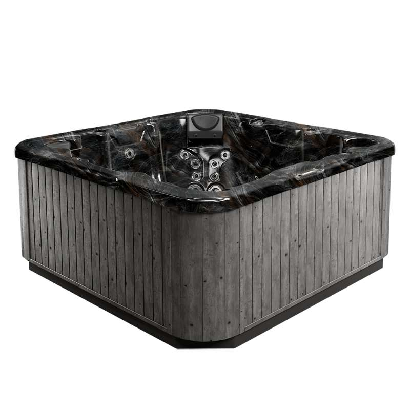 Dimension One Wayfarer Spa Whirlpool für 6 Personen 211 x 211 x 91 cm grau/weiß