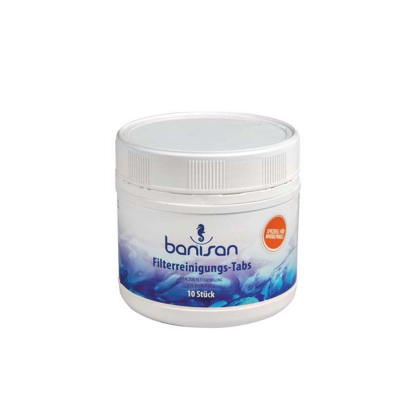 Banisan Filterreinigungstabletten 10 Stück Filter-Reinigungstabs 20 Gramm Tabletten für Whirlpools