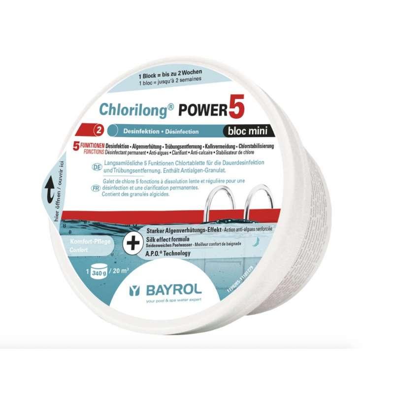 Bayrol Chlorilong Power 5 Bloc Mini 340 g Chlortablette Dauerdesinfektion