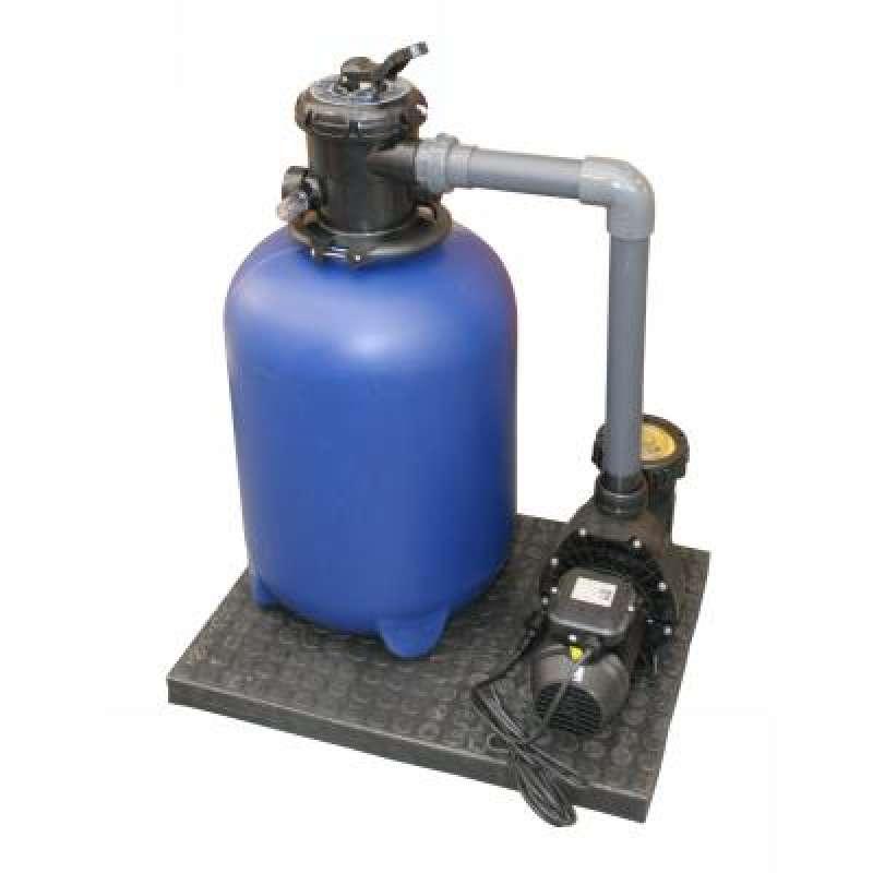 Filteranlage Set 400 mm TPO MOUNT mit fester Verrohrung zur Pumpe 45125400