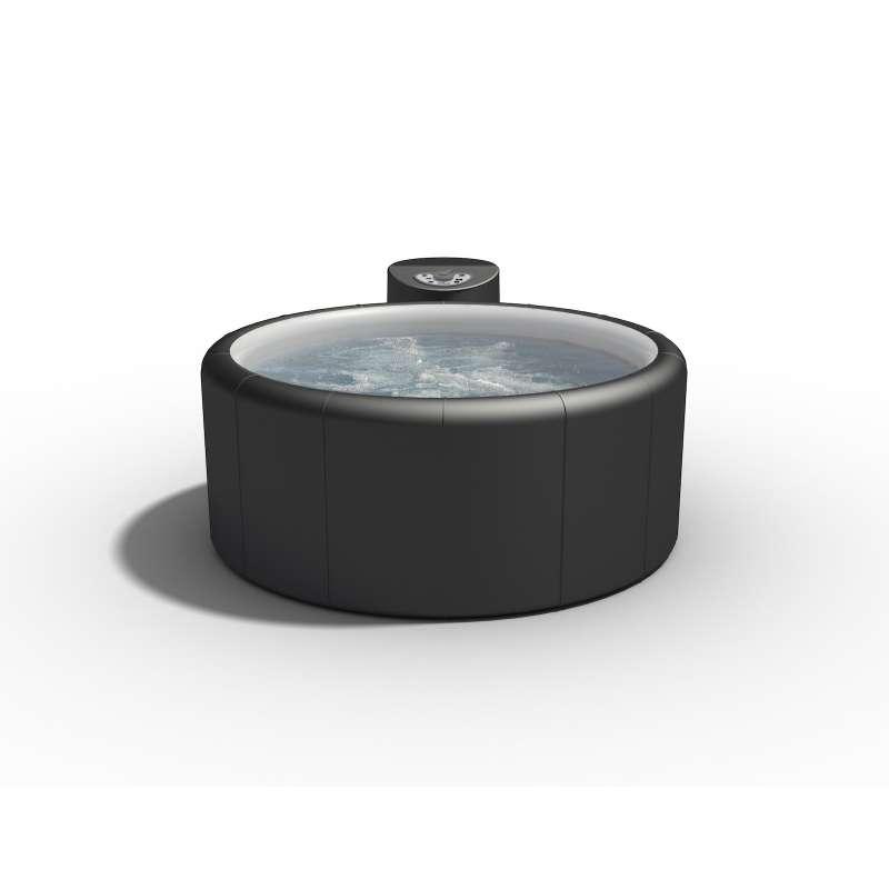 Softub Sportster 140 Whirlpool für 1 bis 2 Personen Ø 150 cm Graphite Pearl inkl. Thermocover