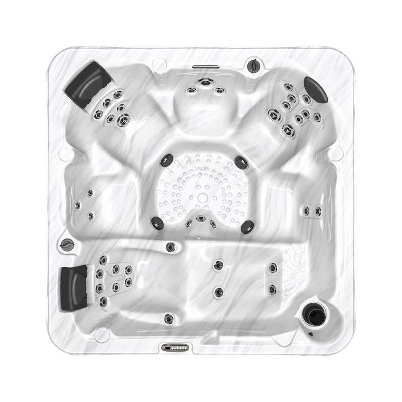 Dimension One Latitude Spa Whirlpool für 6 Personen 232 x 232 x 91 cm grau/weiß