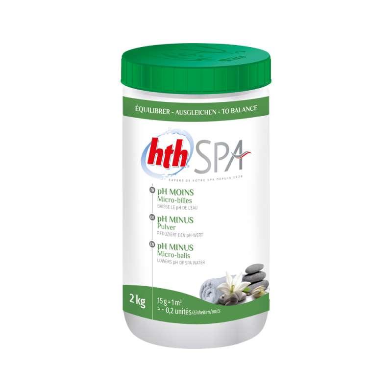 hth Spa pH-Minus Pulver 2 Kg pH-Wert Senkung für Whirlpools und Spas