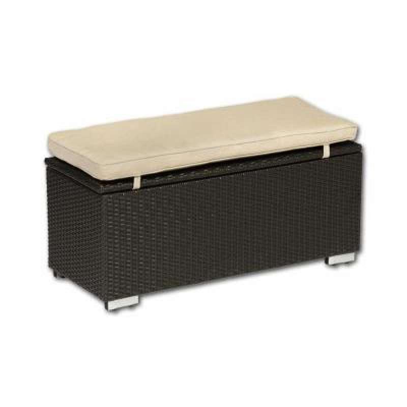 Softub Aufbewahrungsbox aus Polyrattan Mocca 100 x 40 x 42 cm 41700005