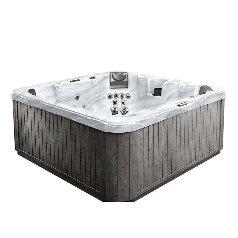 Dimension One Meridian Spa Whirlpool für 7 Personen 232 x 232 x 93 cm grau/weiß