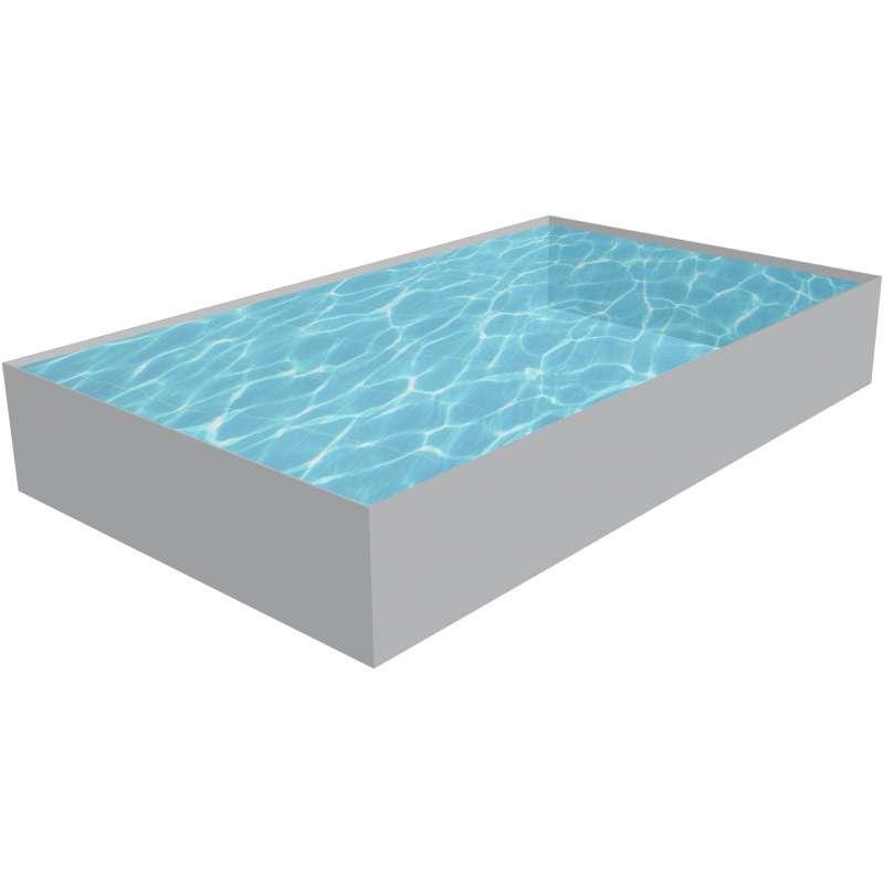Styropor Pool rechteckig Schwimmbecken Bausatz Höhe 150 cm Schwimmbad