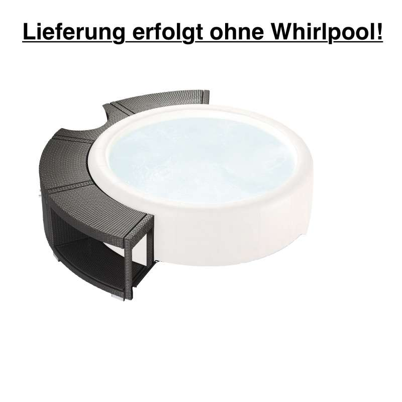 Softub 5/8 Poly Rattanumrandung mocca für Whirlpool Legend 220
