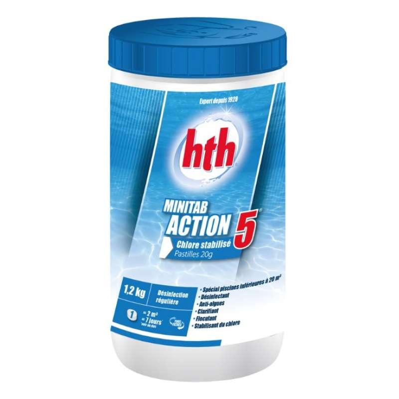 hth Chlortabletten Multifunktion / Minitab Action 5 Whirlpool Multifunktionstabletten 1,2 Kg