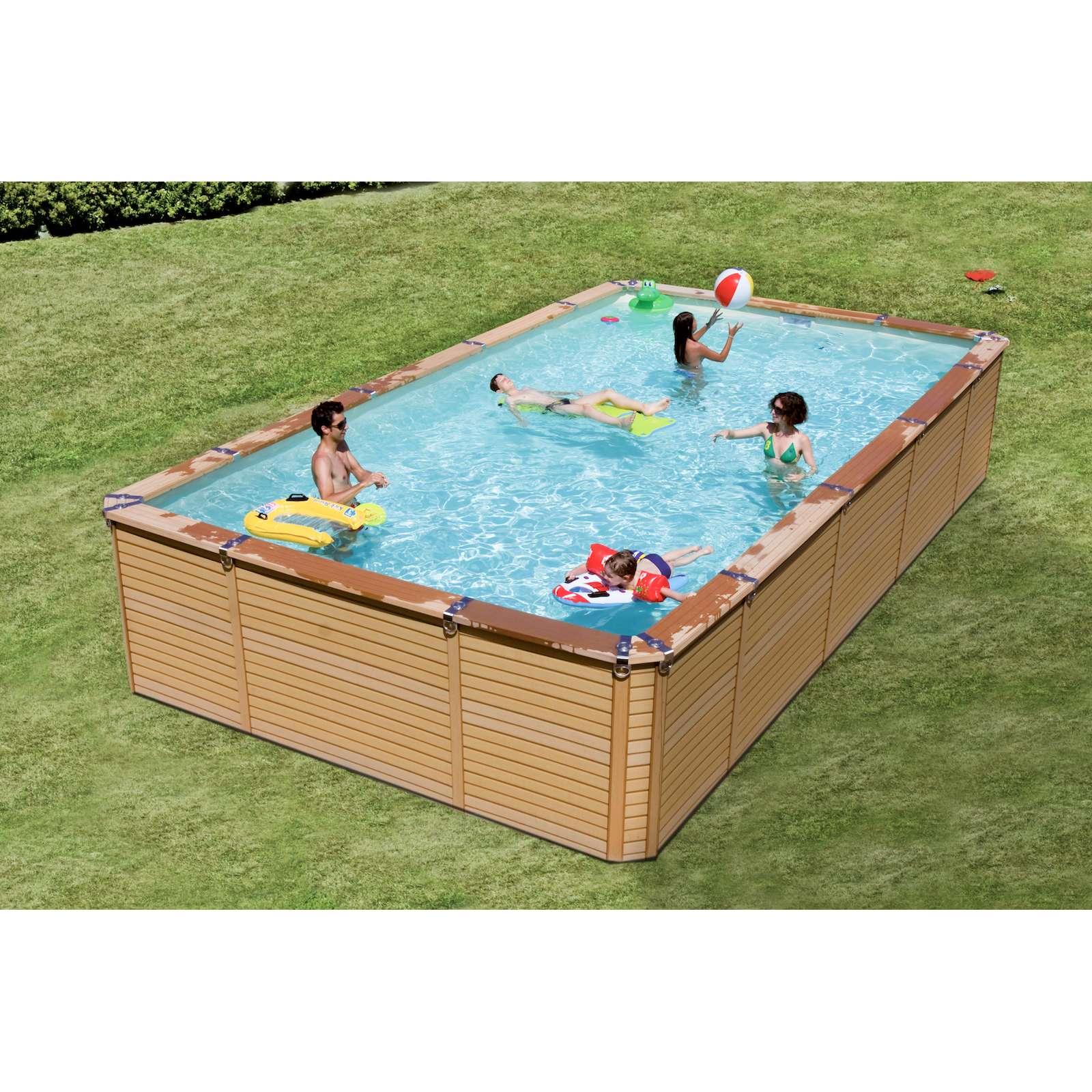 Schwimmbecken azteck pool rechteckbecken aufstellbecken for Aufstellbecken stahlwand