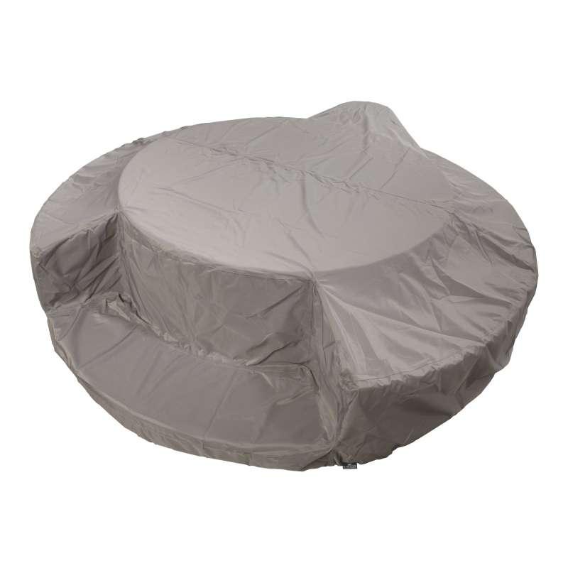 Marinoir Schutzhülle Abdeckplane für Softub 300 Resort silber grau 33015002
