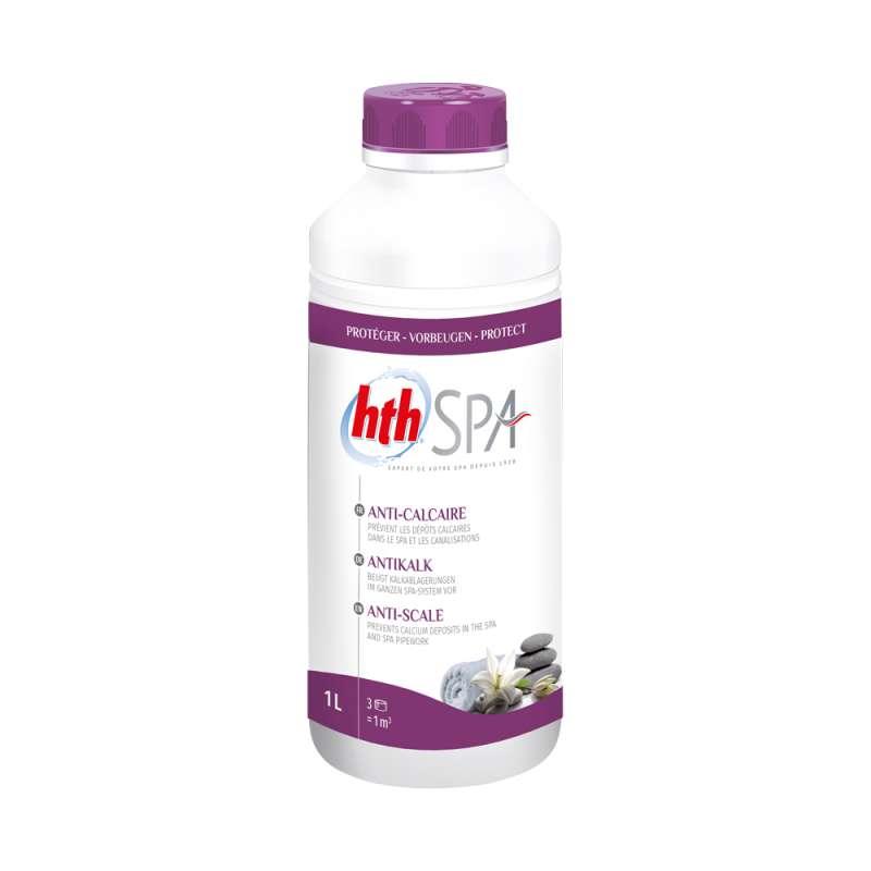 hth Spa Antikalk 1 L (1000 ml) Anti-Kalk gegen kalkhaltige Ablagerungen für Whirlpools und Spas