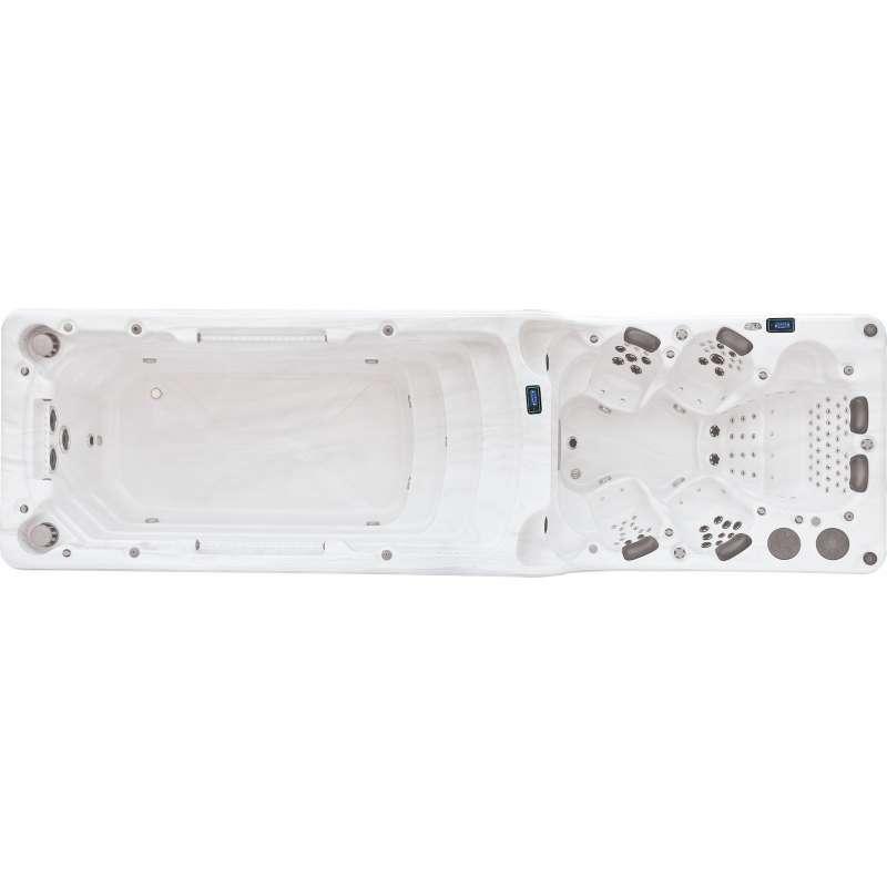 A-Spas Luxema 8000 Swim Spa Whirlpool-/ Schwimmbereich getrennt 750 x 222 x 160 cm