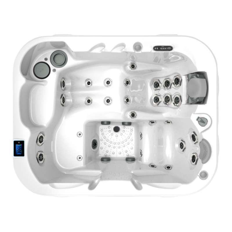 Dimension One Triad 91 Spa Whirlpool für 3 Personen 213 x 169 x 91 cm grau/weiß