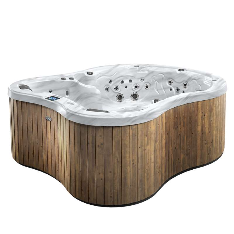 Dimension One Amore Bay Spa Whirlpool für 7 Personen 234 x 275 x 103 cm grau/weiß
