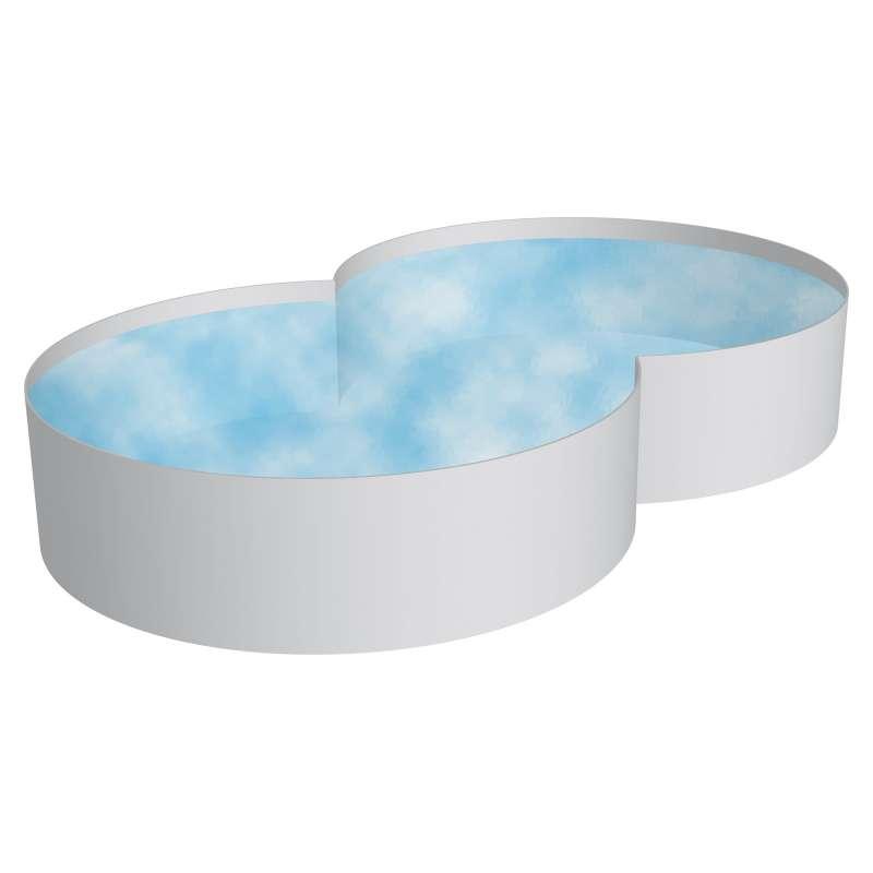 Pool Schwimmbecken Achtform Stahlwand 3 Größen Höhe 150 cm Swimmingpool