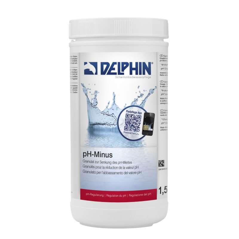 Delphin pH Minus Granulat 1,5 kg pH Senker Schwimmbadpflege Poolpflege 0811001D