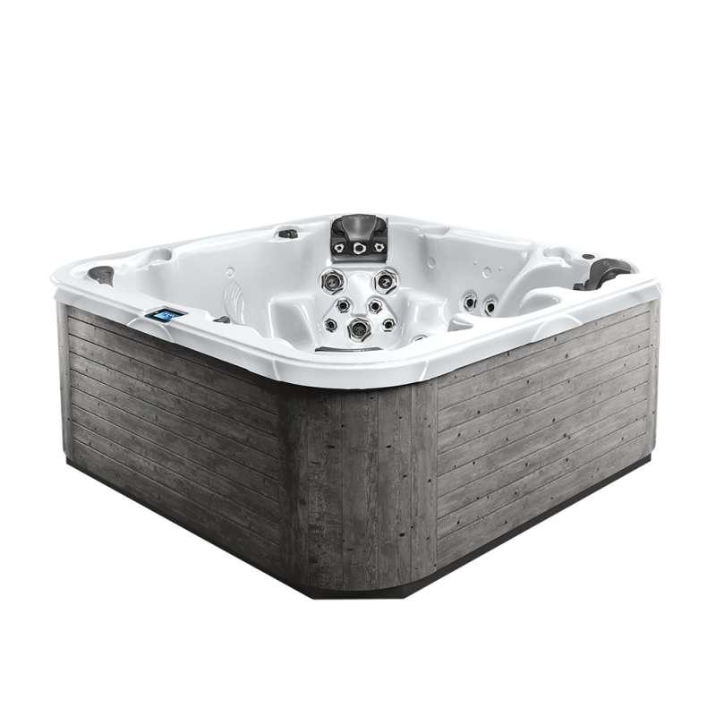 Dimension One Nautilus Spa Whirlpool für 7 Personen 234 x 234 x 91 cm grau/weiß