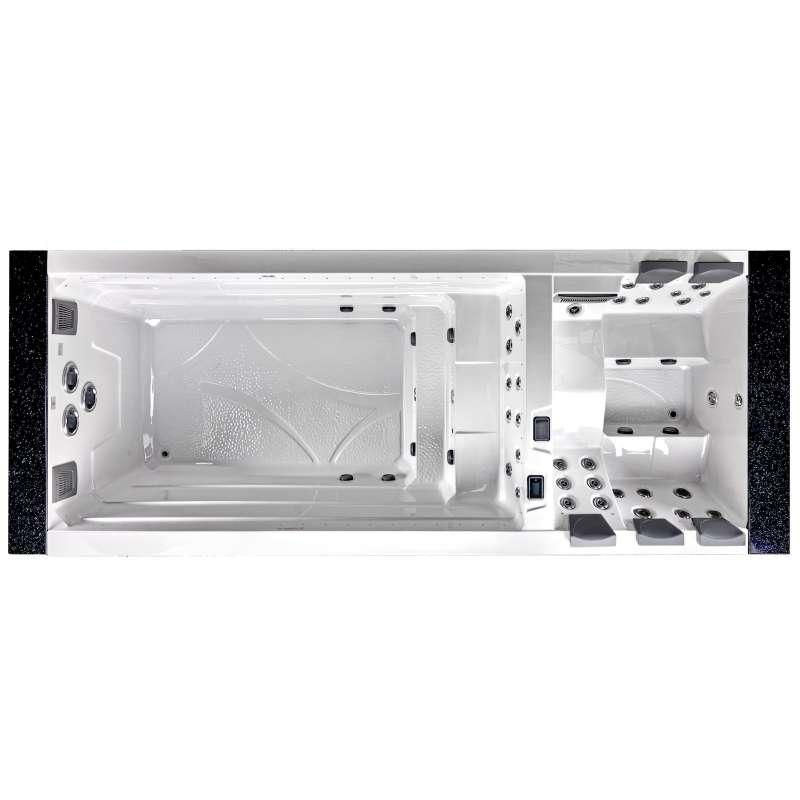 A-Spas Cubus 5900 Swim Spa Whirlpool-/ Schwimmbereich getrennt 590 x 228 x 148 cm