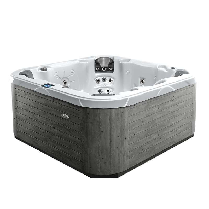 Dimension One Nautique Spa Whirlpool für 7 Personen 211 x 211 x 91 cm grau/weiß