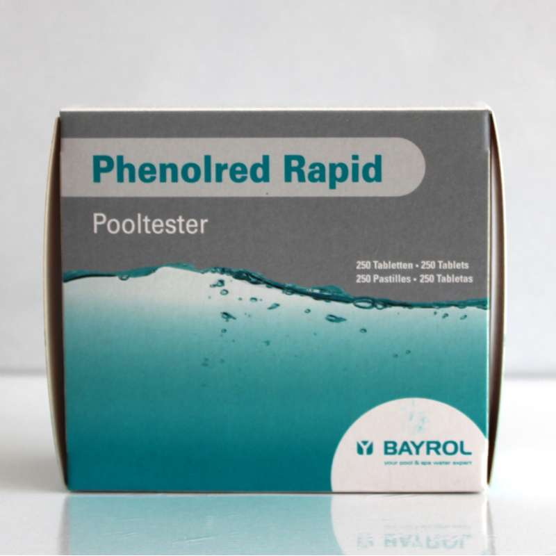 Bayrol Phenol red Tabletten für Pooltester pH Wert 250 Tabletten Poolpflege
