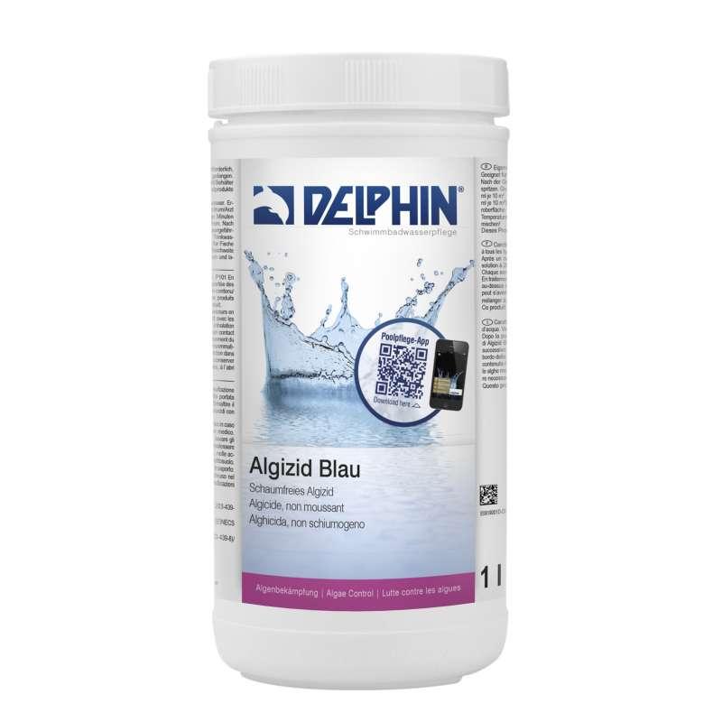 Delphin Algizid blau Algenverhütung 1 Liter Algizid Algenmittel 0619001D