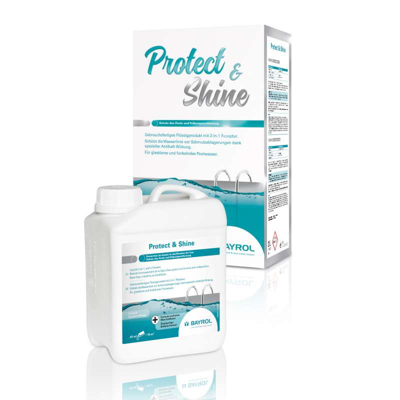 Bayrol Protect & Shine 2 L Komfort Pflege zur Trübungsentfernung 1195350