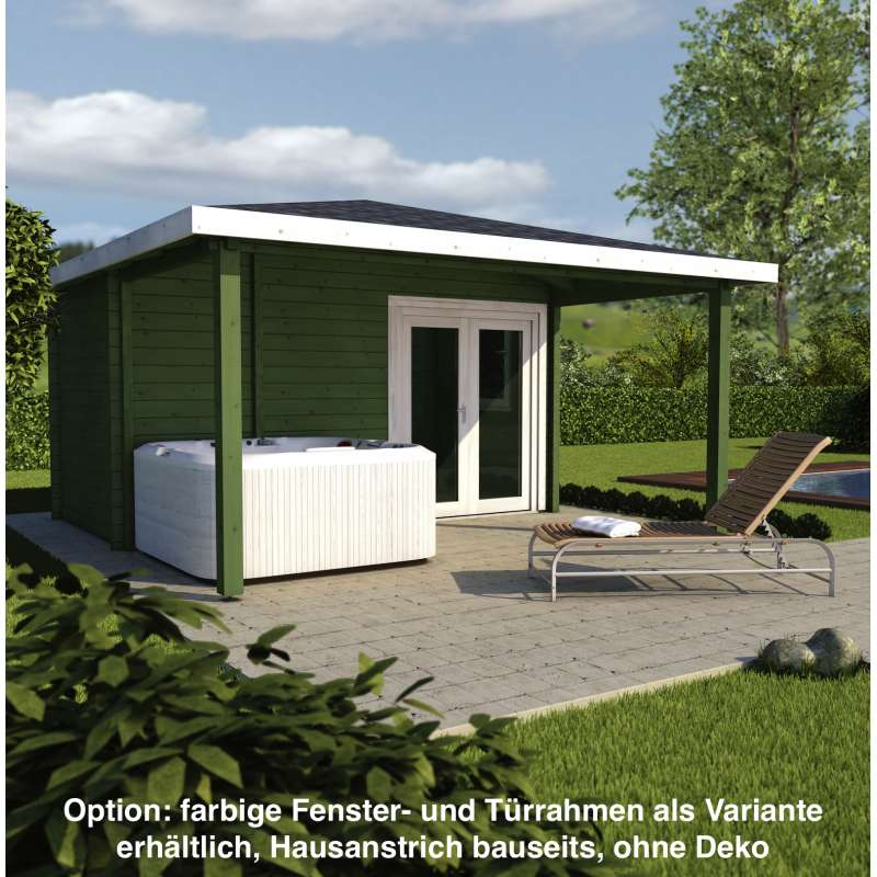 Infraworld Poolhaus Living 2 Größe 445 x 230 cm in nord. Fichte 391051