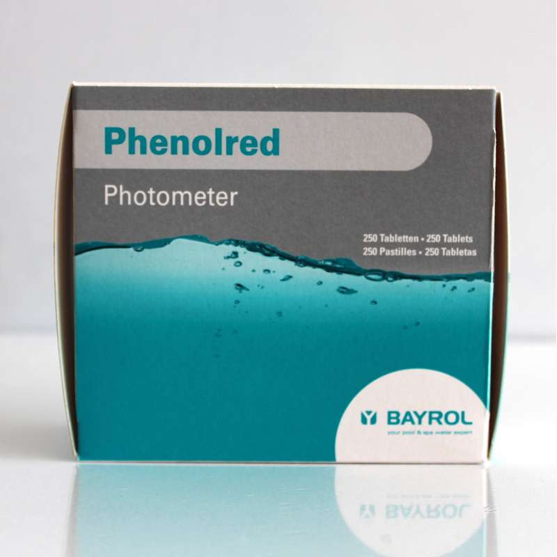 Bayrol Phenol red Tabletten für elektronischen Pooltester pH Wert 250 Tabletten