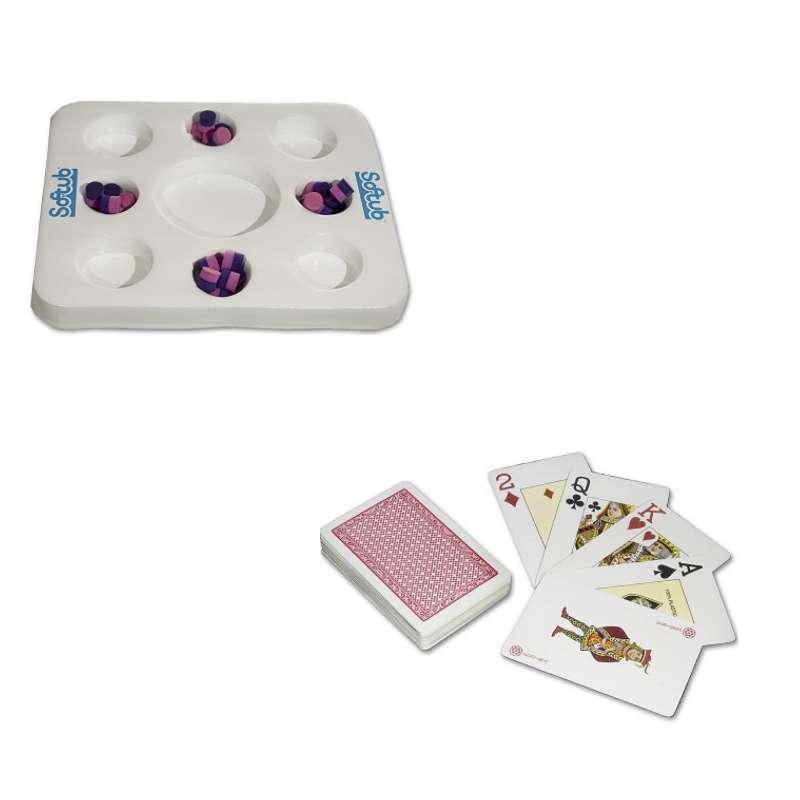 Softub Kool Tray Schwimmtablett für Whirlpool Farbe weiß inkl. wasserfeste Spielkarten