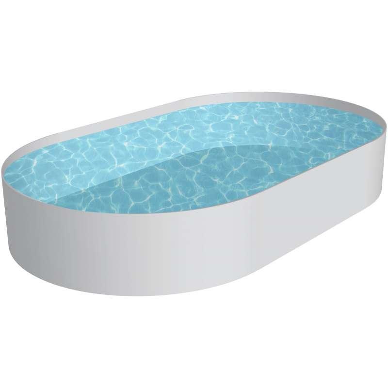 Pool Schwimmbecken OVAL Stahlwand 3 Größen Höhe 120 cm Swimmingpool