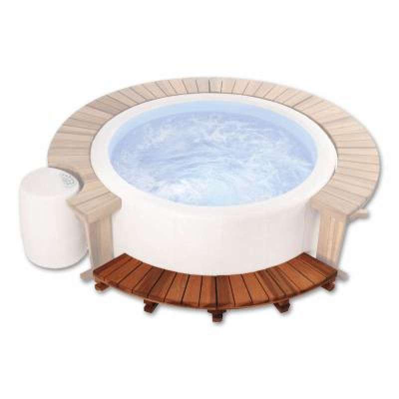 Softub Holzeinstieg für Softub Whirlpool Legend mit 1,80 m Außendurchmesser