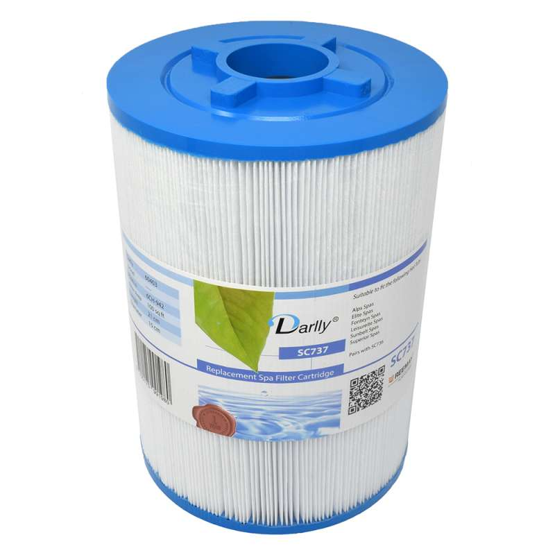 Darlly® Filter SC737 Lamellenfilter Alps Elite Fonteyn Leisureite Superior Spas