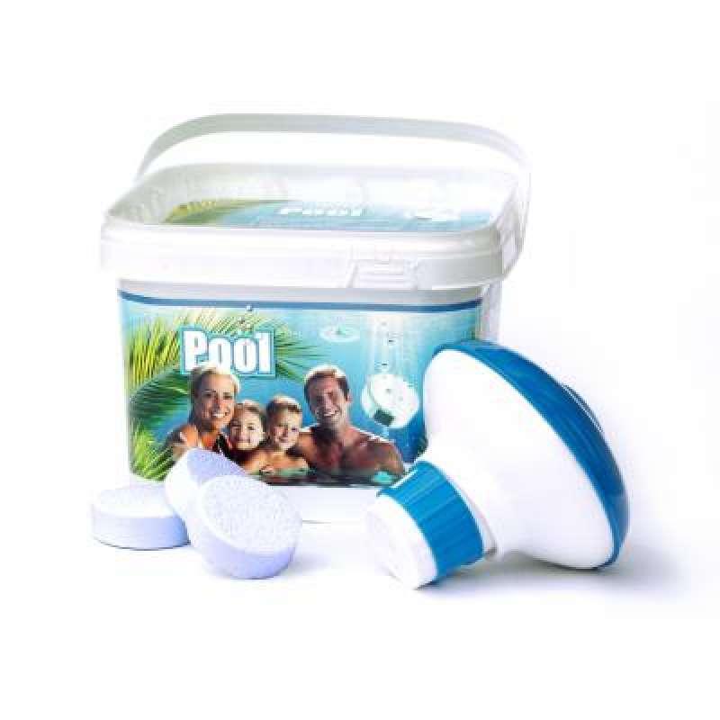 AquaFinesse Pool Bucket 30 Reinigungstabletten inkl. Skimmer