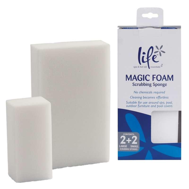Life Magic Foam Scrub Sponges 4x Reinigungsschwämme Set Reinigungsschwamm für Whirlpool