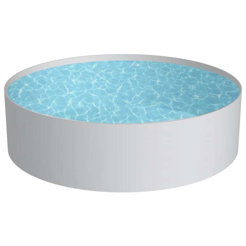 Pool Schwimmbecken RUND Stahlwand 6 Größen Höhe 120 cm Beckenset Swimmingpool