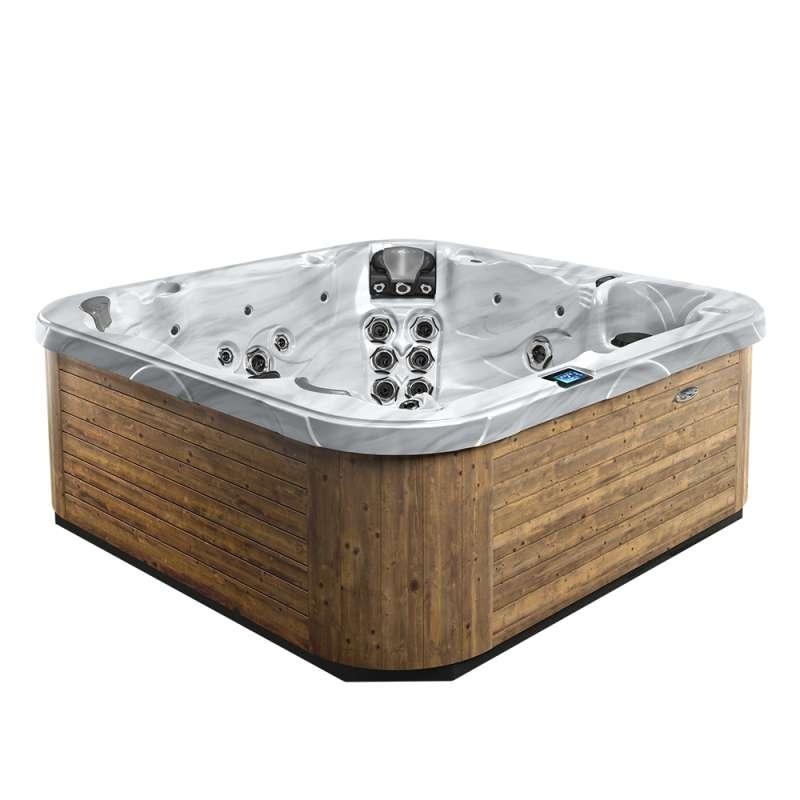 Dimension One Californian Spa Whirlpool für 6 Personen 234 x 234 x 91 cm grau/weiß