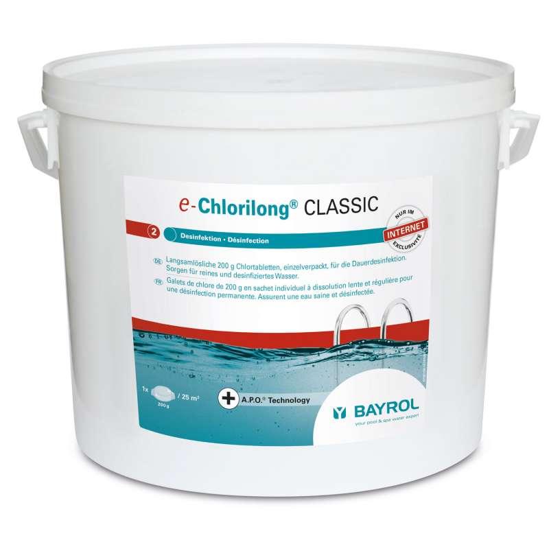 Bayrol e-Chlorilong Classic 10 kg Chlortabletten à 200 g zur Dauerdesinfektion