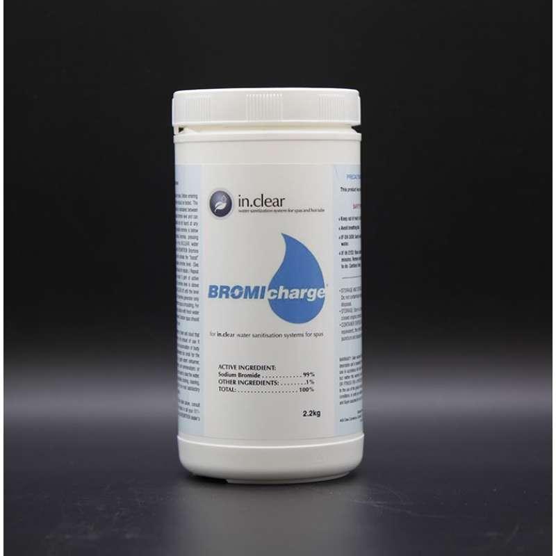 in.Clear Bromicharge Salz 2,2 Kg Bromsalz für Whirlpools mit Gecko in.clear Wasserdesinfektionsanlag