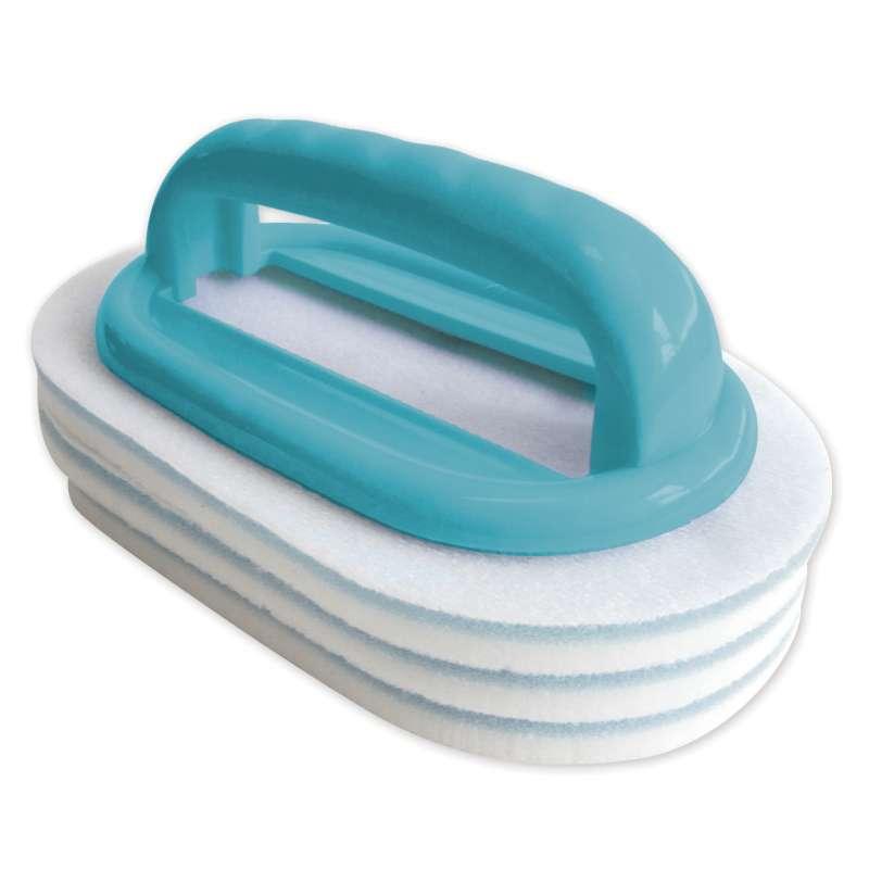 Bayrol Handbürste mit austauschbaren Reinigungspads Schwimmbadpflege 411009
