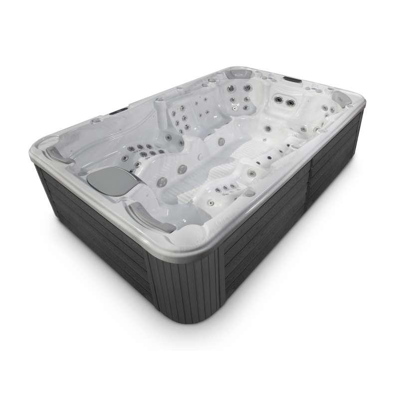 Wellis Olympus Whirlpool Outdoor Außenwhirlpool für 9 Personen inkl. Thermoabdeckung