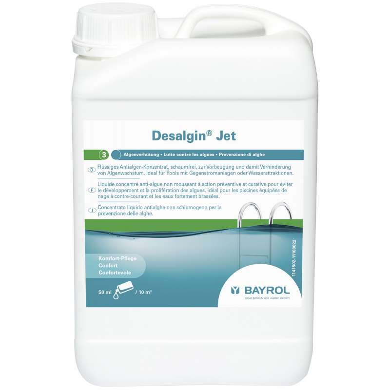 Bayrol Desalgin Jet 3 Liter Algenverhütung Algenschutz Poolpflege 1141502