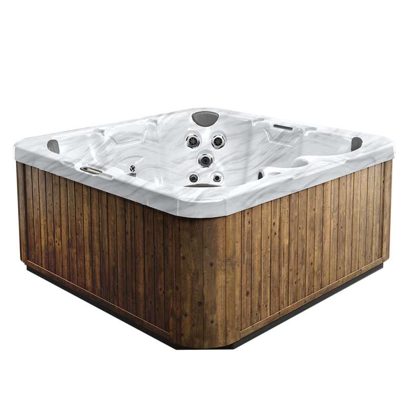 Dimension One Breeze Spa Whirlpool für 7 Personen 213 x 213 x 91 cm grau/weiß