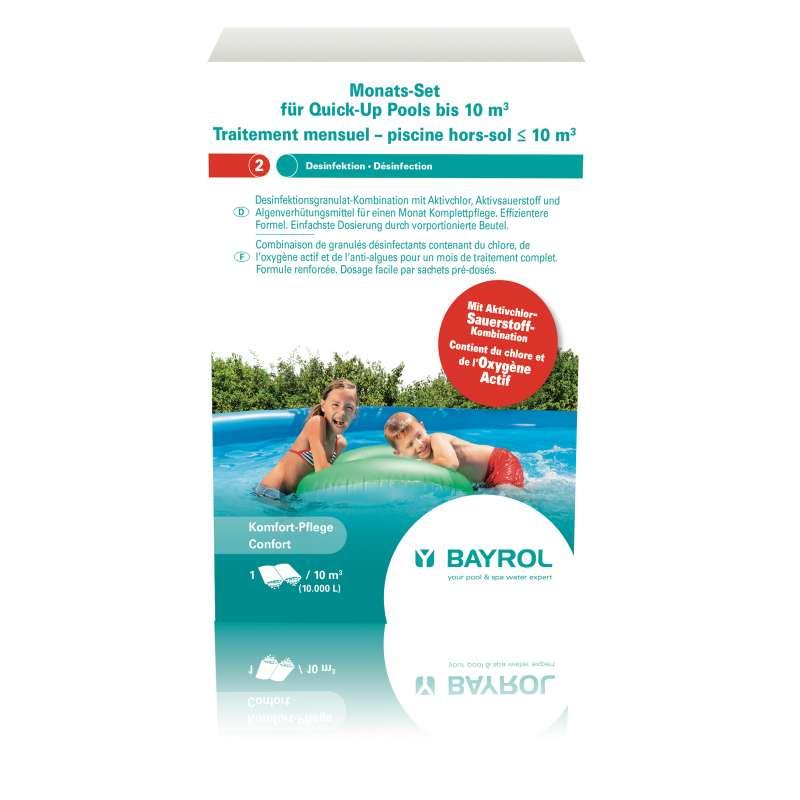 Bayrol Monats Set Quick Up Pool für Becken bis 10 m³ Schwimmbadpflege